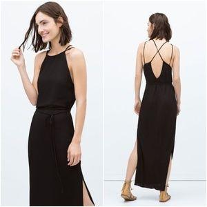 Zara | Maxi Dress with Crossed Straps